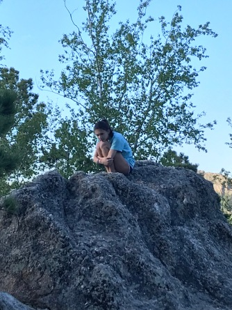 Just hanging out on a rock