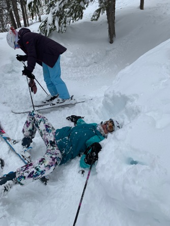 This is me after face planting...and that's Alexia laughing her butt off!!!
